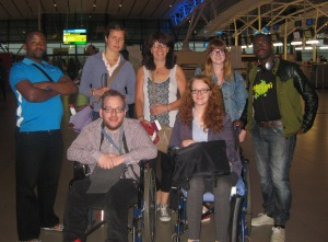 Our last group photo together, taken in King Shaka airport