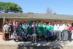 Us at Dloko High School with the choir